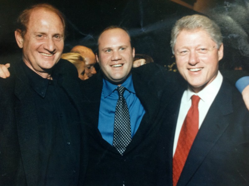 Mike Medavoy, Brian Medavoy and Bill Clinton