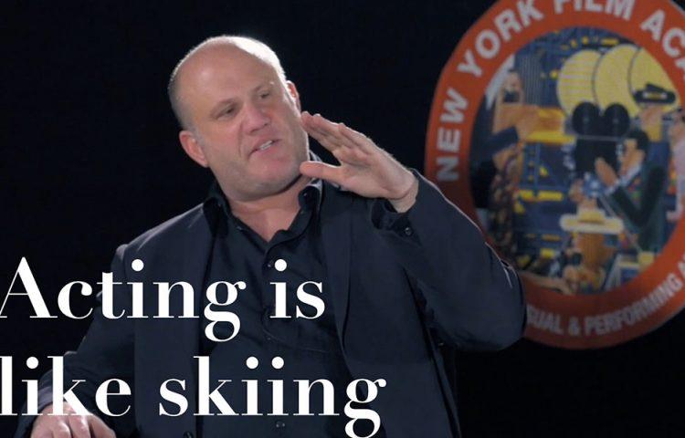 Acting is like skiing