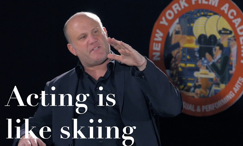 Acting is like skiing